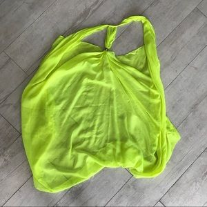 Other - Bright neon yellow cover up